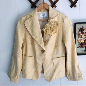 Zara • Flax & Silk Woven Blazer